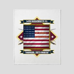 54th Massachusetts Throw Blanket