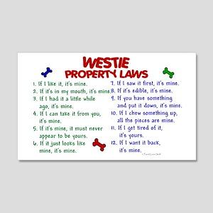 Westie Property Laws 2 20x12 Wall Peel