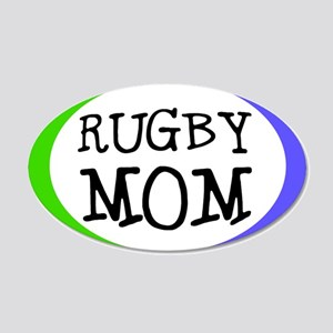 Rugby Mom 20x12 Oval Wall Peel (Small Oval)