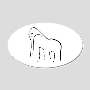 Silverback Gorilla 35x21 Oval Wall Peel