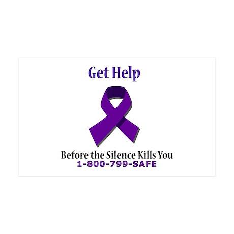 Purple Ribbon 35x21 Wall Peel