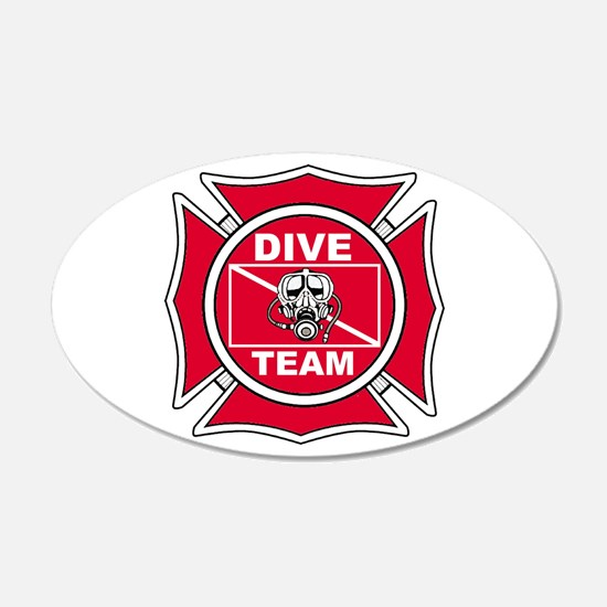 Rescue Dive Team 20x12 Oval Wall Peel