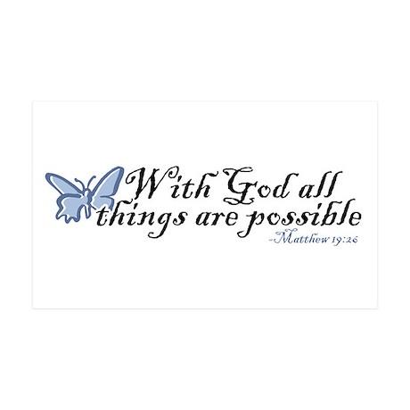 Matthew 19:26 35x21 Wall Peel
