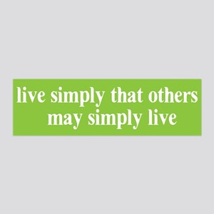 Live simply that others may s 36x11 Wall Peel
