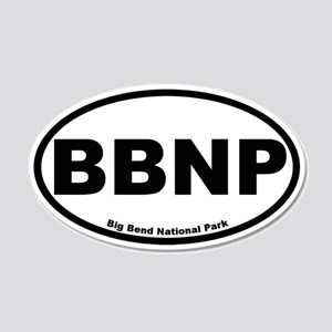 Big Bend National Park 20x12 Oval Wall Peel