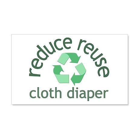 Recycle & Cloth Diaper - 20x12 Wall Peel