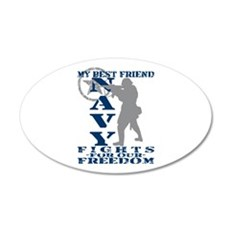 Best Friend Fights Freedom - NAVY Wall Decal