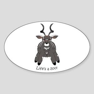 Sitatunga Sticker (Oval)