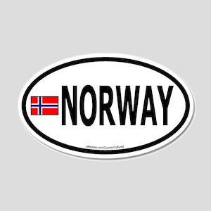 Norway 20x12 Oval Wall Peel