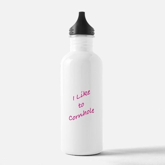 I Like To Cornhole Water Bottle