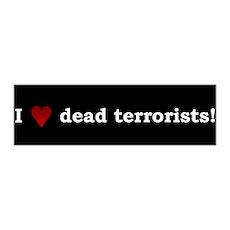 Heart Dead Terrorists 36x11 Wall Peel