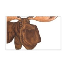 moose head antlers 20x12 Wall Peel