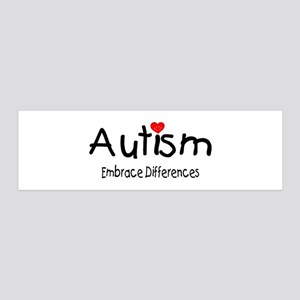 Autism, Embrace Differences 36x11 Wall Peel