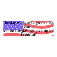 Gun Freedom 36x11 Wall Peel