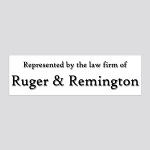 Law Firm of RUGER and REMINGTON 36x11 Wall Peel