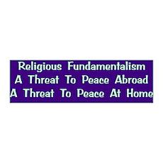 Threat To Peace 36x11 Wall Peel