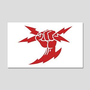 Lightning Fist 20x12 Wall Peel
