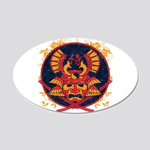 Samurai Stamp 20x12 Oval Wall Peel