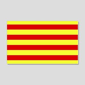 Catalunya Flag 20x12 Wall Peel