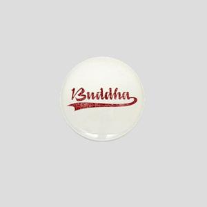 Red Buddha Mini Button