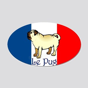 Le Pug 20x12 Oval Wall Peel