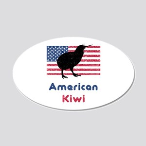 American Kiwi 20x12 Oval Wall Peel