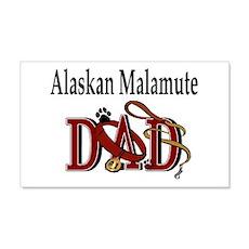 Alaskan Malamute Dad 20x12 Wall Peel
