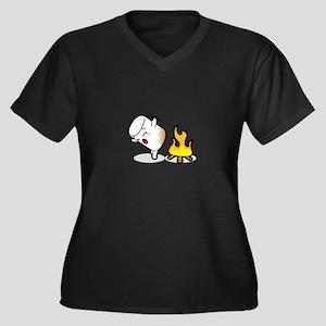 Toasty Buns Marshmallow Baby Art Plus Size T-Shirt