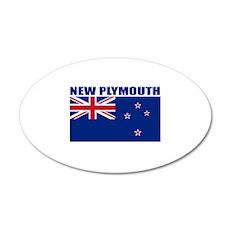 New Plymouth, New Zealand 20x12 Oval Wall Peel