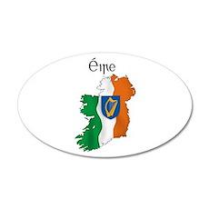 Ireland flag map 20x12 Oval Wall Peel