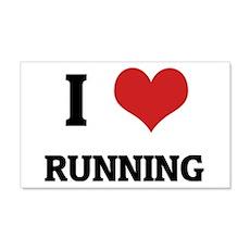 I Love Running 20x12 Wall Peel