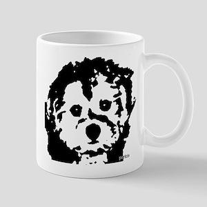 porkie - black & white Mug