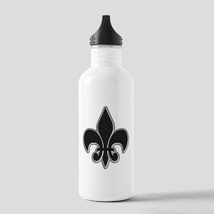 Saints Black Grey Fleur Stainless Water Bottle 1.0