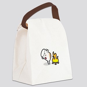 Toasty Buns Marshmallow Baby Art Canvas Lunch Bag