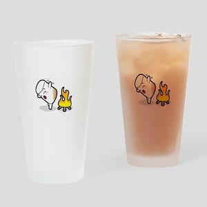 Toasty Buns Marshmallow Baby Art Drinking Glass
