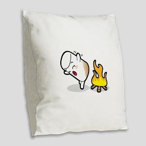 Toasty Buns Marshmallow Baby A Burlap Throw Pillow