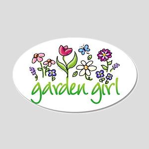 Garden Girl 2 20x12 Oval Wall Peel
