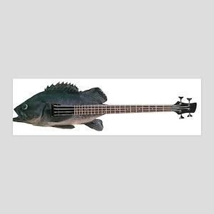 Bass Guitar 36x11 Wall Peel