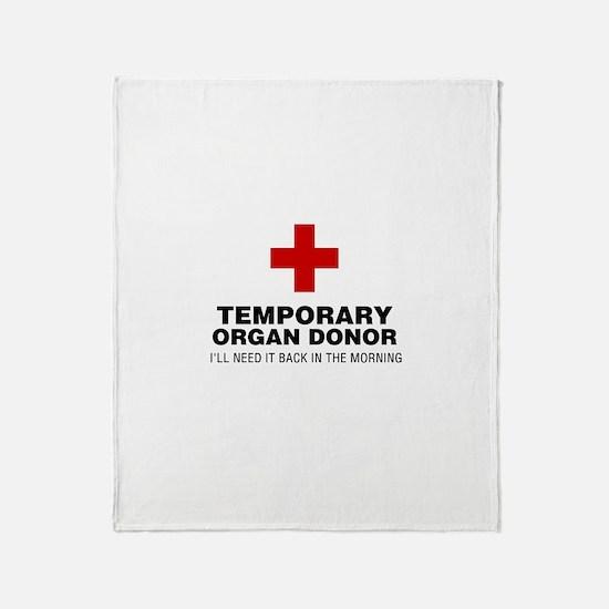 Temporary Organ Donor Throw Blanket