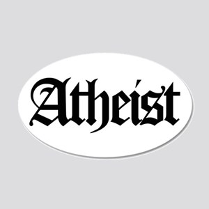 Official Atheist 20x12 Oval Wall Peel