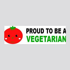 Proud To Be A Vegetarian 36x11 Wall Peel