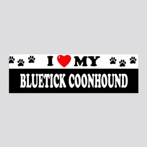 BLUETICK COONHOUND 36x11 Wall Peel