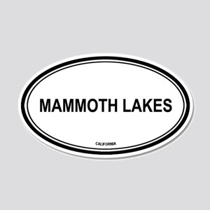 Mammoth Lakes oval 20x12 Oval Wall Peel