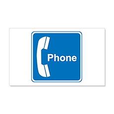 Phone Sign 20x12 Wall Peel