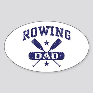 Rowing Dad Sticker (Oval)