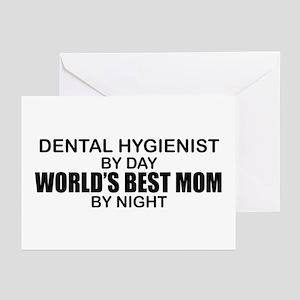 worlds best mom dental hyg greeting cards pk o