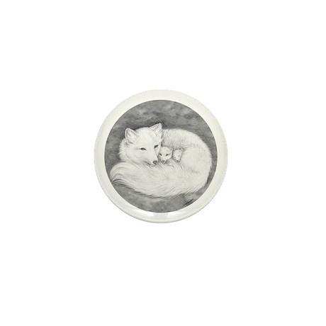 Arctic Fox Family ~ Mini Button (100 pack)