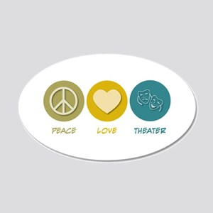 Peace Love Theater 20x12 Oval Wall Peel