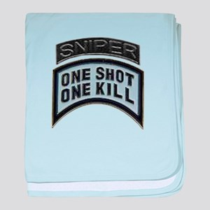 Sniper: One Shot/One Kill baby blanket