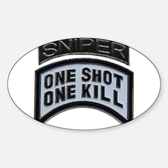 Sniper: One Shot/One Kill Sticker (Oval)